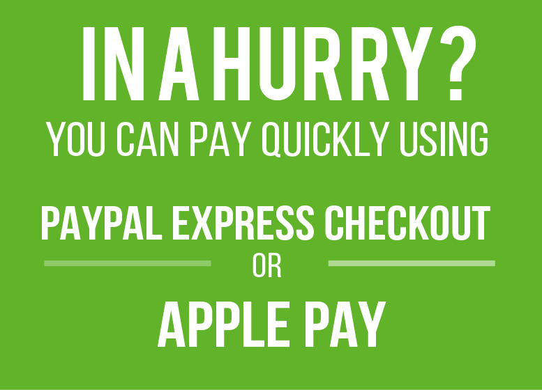 Pay now using apple pay or paypal